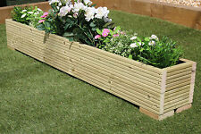 GREAT WOODEN GARDEN PLANTER TROUGH 150cm LENGTH DECKING PLAIN TREATED TIMBER