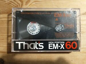 That's EMX60 cassette tape, used, metal type IV high bias, excellent quality