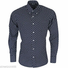 Relco Fitted Long Sleeve Casual Shirts & Tops for Men