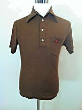 Lee Trevino vintage Wrangler polo shirt brown wide collar sombrero pocket S M