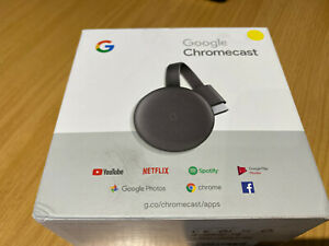 Google Chromecast 3rd Gneration Media Streamer - Charcoal HD 1080P