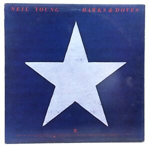 1980 Neil Young Hawks Doves Warner Bros XHS 2297 Used Vinyl LP Album Record I207
