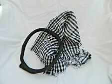 Egyptian Cotton Arabic Arafat Black Ekhal Head wear Shall Scarf