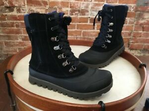 Bare Traps Yasmen Black Suede Water Repellant Outdoor Boot 8 New