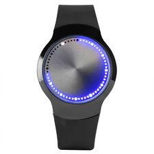 Creative Cool LED Display Digital Wrist Watch for Men Women Black/Whit Rubber