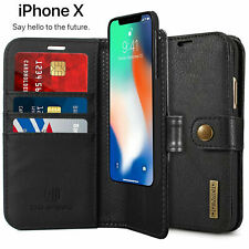 Genuine Leather Case for iPhone X iPhone 6 6S 7 8 Plus Man Husband Wallet Cover