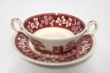 Spode Copeland Pink Tower Suppentasse+Untere