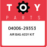 04006-29353 Toyota Air bag assy kit 0400629353, New Genuine OEM Part