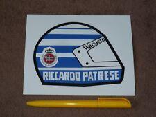 Riccardo PATRESE, helmet, Warsteiner - Sticker/Aufkleber