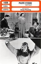 FICHE CINEMA : PILOTE D'ESSAI - Gable,Loy,Tracy,Fleming 1938 Test Pilot