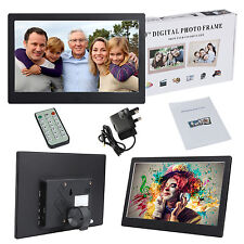 """10"""" Excellent Digital Photo Metal Frame LED Picture Audio Video Player +Remote"""