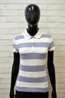 TOMMY HILFIGER Polo Maglia Donna Taglia M Shirt Camicia Cotone Fantasia a Righe