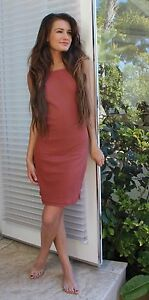 Ribbed Knit Tank Dress | Green Red Black & White S M L NWT by Double Zero 17F557