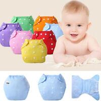 Baby 7PC/Set Newborn Reusable Nappies Adjustable Diaper Washable Cloth Diaper