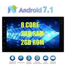 """8 Core Android 7.1 32GB+2G 7"""" Double 2DIN Car Radio Stereo DAB+ OBD2 GPS Navi"""