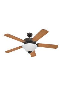 """Sea Gull Lighting Energy Star 52"""" Ceiling Fan Heirloom Bronze 15030BLE-782"""