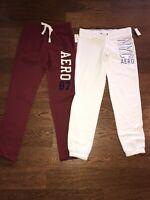 Womens AEROPOSTALE SZ Small Logo Sweat Lounge Pants LOT OF 2 New