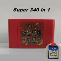 Super 64 Bit Retro 340 in 1 Game Card For N64 with 16 GB Card Preloaded Game ROM