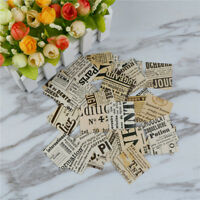 Creative Old Newspaper Adhesive Stickers DIY Decor Diary Stickers Box Packag ZSU