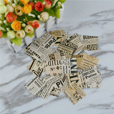 Old Newspapers Adhesive Stickers DIY Decors Diary Stickers Box Package HF