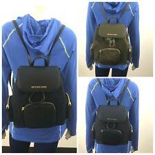 NWT Michael Kors Abbey Medium Cargo Canvas PVC Backpack MK Travel Bag $348