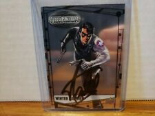 The Winter Soldier Marvel Upper Deck trading card signed by Stan Lee COA