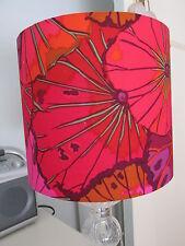 Handmade Drum Lampshade Kaffe Fassett Lotus Leaf Red Wine Fabric 20cm