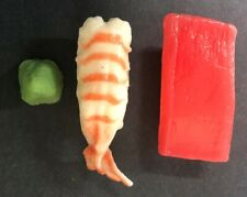 Realistic Artificial Faux Fake Food Replica SUSHI Stage TV Movie Prop Lot of 3