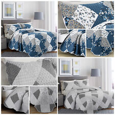 Quilted Bedspread Bed Throw Patchwork Single Double King Size Luxury Bedding Set