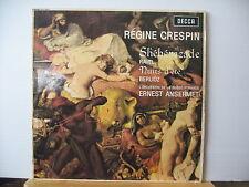 DECCA SXL 6081 REGINE CRESPIN Shehearazade RAVEL Nuits d'ete BERLIOZ Ansermet LP