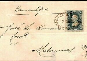 MEXICO Cover SUPERB RED CANCEL Matamoros 1875 {samwells-covers} F504