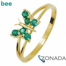 Emerald 9ct 9k Solid Yellow Gold Ring Size P 7.75 24929/G