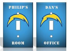 PERSONALIZED San Diego Chargers Light Switch Covers NFL Football Home Decor