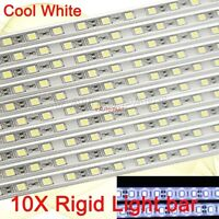 10X 50cm 30 LED 5050 SMD waterproof cool white aluminium Rigid Strip Light 12V