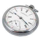 Vintage American Waltham Watch Co. White Dial Pocket Watch Stainless Steel