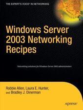 Windows Server 2003 Networking Recipes (Paperback or Softback)