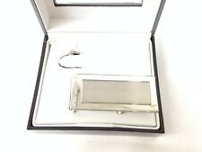 $75 GEOFFREY BEENE  MENS SILVER METAL ONE SIDED MONEY CLIP METAL CARD HOLDER