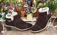 Women's Route 66 Ankle High Dark Brown Boots Size 8.5 NICE!!