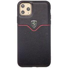 "Custodia cover TPU+PC+VERA PELLE Ferrari Off Track Apple iPhone 11 Pro Max 6.5"""