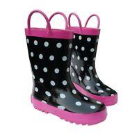 Black & White Toddler Boys Girls Rain Boots 5-10