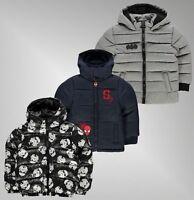 Boys Character Lightweight Full Zip Hooded Pockets Padded Coat Sizes 2-12 Yrs