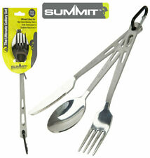 3Piece Stainless Steel Camping Cutlery Set Fork Knife Spoon Festival Travel Hike