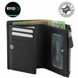 Women's RFID Genuine Soft Leather Compact Wallet Zipper Clutch Card Purse New