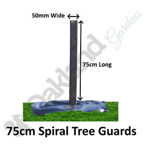 20 x ( 75cm x 50mm ) Brown Spiral Tree Guards Shelters Protectors Rabbit Hedge