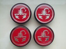 4 X Neuf Origine FIAT 500 ABARTH roue en alliage rouge 50 mm Centre Cap