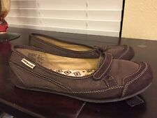 Airwalk Womens Shoes Sz 9 Slip On Flats Brown Vegan