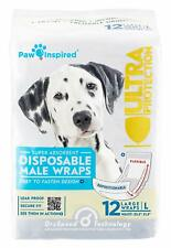 Paw Inspired Ultra Protection Disposable Male Wraps  Belly Bands LARGE