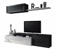 Parete attrezzata mobile TV sala da pranzo Dalì grigio cenere salotto soggiorno