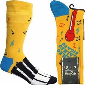 Happy Socks Queen Bohemian Rhapsody Sock, Yellow