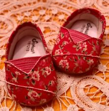 "For American Girl or 18"" Doll Pretty Pink Flower Patterned Flats"